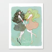 Dream Sisters Canvas Print