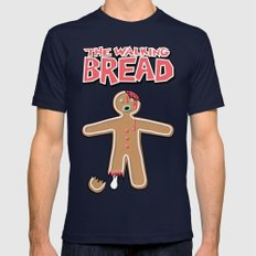 The Walking Bread  Mens Fitted Tee Navy SMALL