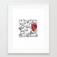 Framed Art Prints featuring coronary apples by NikKor