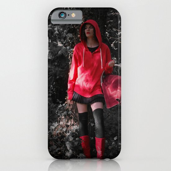 red in the hoodie iPhone & iPod Case