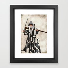 Gandalf - The Lord Of Th… Framed Art Print