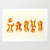 Fire Gang  Art Print