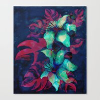 Tropical Flower - Blue Lilly Canvas Print