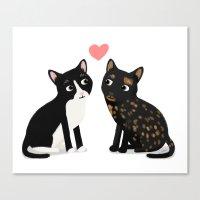 Custom Cats Canvas Print