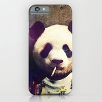 iPhone Cases featuring Panda Durden by rubbishmonkey