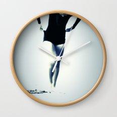 Woman Emerging Wall Clock