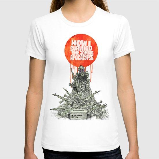 How I Survived The Zombie Apocalypse (colour option) T-shirt