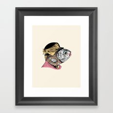 Mrs. Fish Framed Art Print