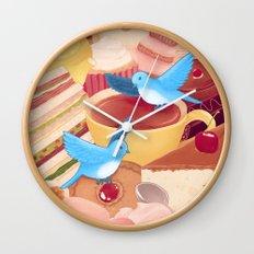 Tea Time Poesy Wall Clock
