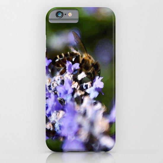 Bee on lavander iPhone & iPod Case