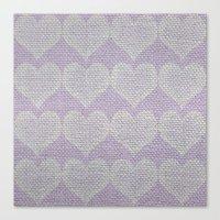 Heart Fabric Canvas Print