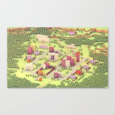 EarthBound - Town Of One… Canvas Print