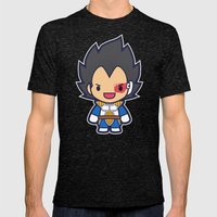 FunSized Vegeta Mens Fitted Tee Tri-Black SMALL