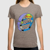 On My Head Womens Fitted Tee Tri-Coffee SMALL