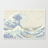 Riders On The Great Wave Canvas Print