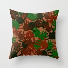 Evidence v1: Camo Throw Pillow