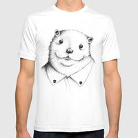 Cute Otter ! Mens Fitted Tee White SMALL