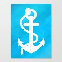 White Anchor Canvas Print
