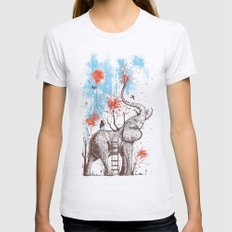 A Happy Place Womens Fitted Tee Ash Grey SMALL