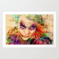 joker Art Prints featuring joker by mark ashkenazi