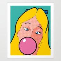 The secret life of heroes - AliceGum Art Print