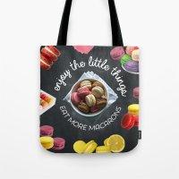 Eat more macarons Tote Bag