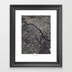 London City Map Framed Art Print