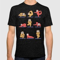 Sloth Yoga Mens Fitted Tee Tri-Black SMALL