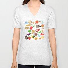 Cute food Unisex V-Neck