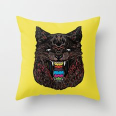 Bakeneko Throw Pillow