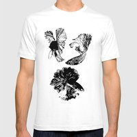 Beta Fish Lavender Mens Fitted Tee White SMALL
