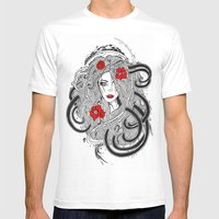 Rose. Mens Fitted Tee White SMALL