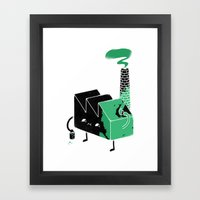 Greenwashing Framed Art Print