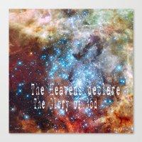 The heavens declare Canvas Print