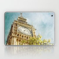 Clock Tower Behind Tree … Laptop & iPad Skin