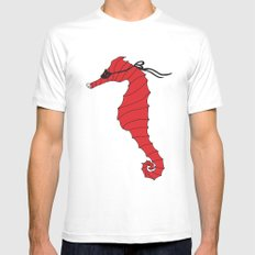 Hero horse SMALL White Mens Fitted Tee