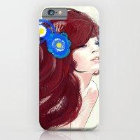 Blue flower. iPhone 6 Slim Case