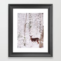Lone Deer Framed Art Print