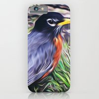 iPhone & iPod Case featuring Red Breast by Stephen Linhart