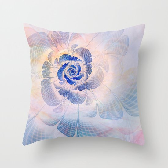 Floral Impression Throw Pillow