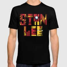 Stan Lee (Iron Man) Black SMALL Mens Fitted Tee