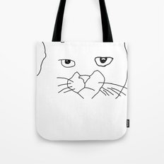 oh hai cat face Tote Bag