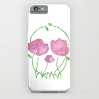 iPhone & iPod Case featuring Tulip Skull by Taylor Jean