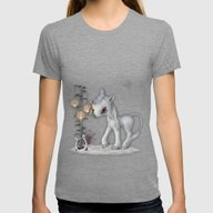 Little Snowflake Womens Fitted Tee Tri-Grey SMALL