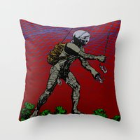 In Martian Fields Throw Pillow