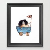 Flag Of Love Framed Art Print