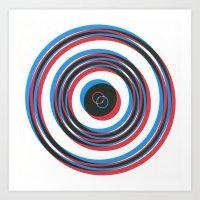 Overlapping Waves Art Print