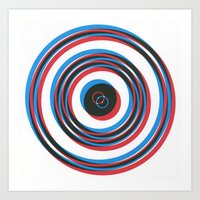 overlapping waves Art Print