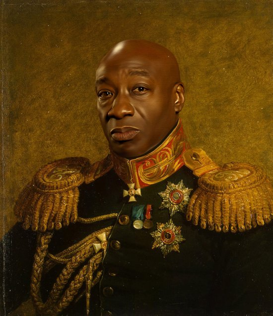 Michael Clarke Duncan - replaceface Art Print