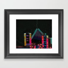 } : -) Framed Art Print